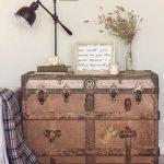 vintage sandıklar ile ev dekorasyonu