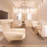 bej koltuklarla modern salon dekorasyonları
