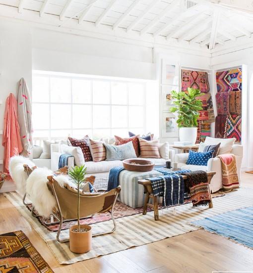 bohem tarz ev dekorasyonları 2019