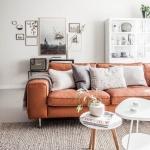 deri koltuklar ile ev dekorasyonları 2018