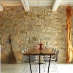 doğal taş duvar ile ev dekorasyonu modelleri 2019