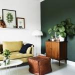 haki yeşil salon dekorasyon modelleri 2018