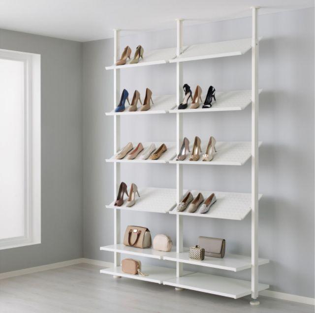 ikea beyaz ayakkab raf ev dekorasyonu. Black Bedroom Furniture Sets. Home Design Ideas