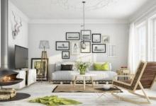 İskandinav tarzı salon dekor fikirleri