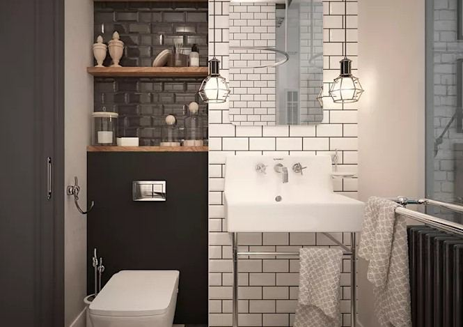 küçük banyo dekorasyonu 2018