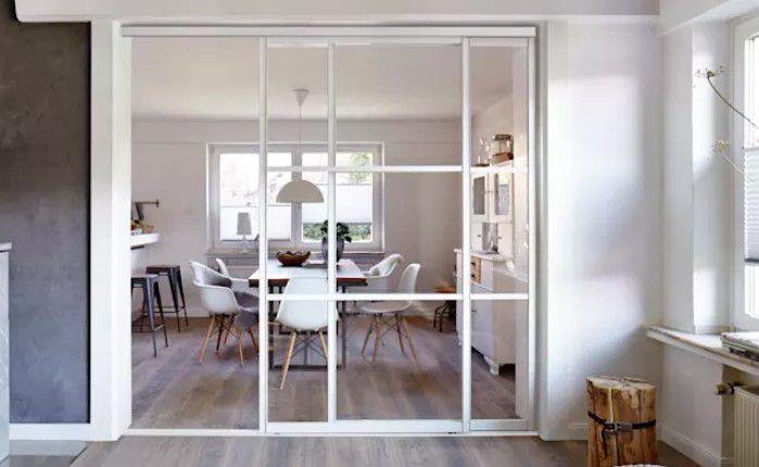 küçük mutfaklar için beyaz sürgülü kapılar 2018