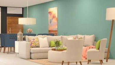 pastel renkli duvar boyası ile salon dekorasyonu 2018