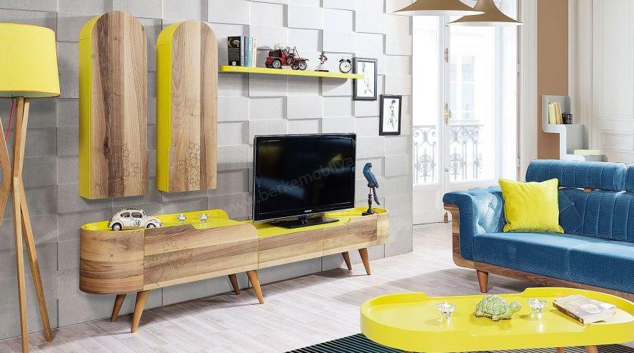 sarı retro tv ünitesi 3157 TL