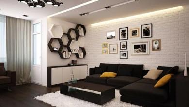 siyah minimalist salon