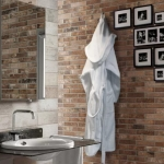 taş duvarlar ile banyo dekorasyonları 2019