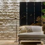 taş duvarlar ile ev dekorasyon modelleri 2018