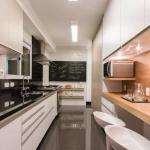 uzun mutfaklar için dekorasyon örnekleri 2018