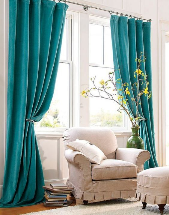 Image Result For Aqua Curtains Living Room