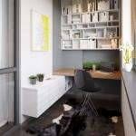 balkonda çalışma masası dekor fikirleri