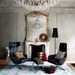glam oturma odası dekorasyonu