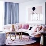 kadınsı oturma odası dekorasyonları 2018