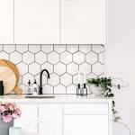 mutfak tezgah duvarı altıgen fayans modelleri