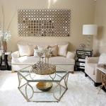 parlak oturma odası dekorasyonu