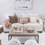 şık oturma odası dekorasyonları 2018