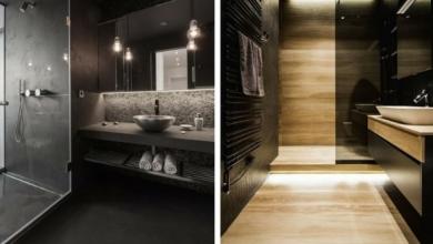 siyah duvarlı banyolar ve dekorasyonlar 2018 2019