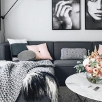 gri ve pembe salon dekorasyonu fikirleri 2018 2019