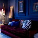 kadife mobilyalar ile ev dekorasyonları