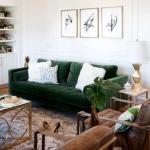 kadife mobilyalar ile ev dekorasyonu modelleri
