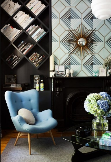 Mavi renk ile dekor fikirleri 2018 2019 ev dekorasyonu for Art deco interior adalah