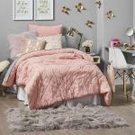 pembe gri kız odası dekorasyonu 2018