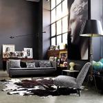 siyah duvarlı oturma odaları 2018 2019