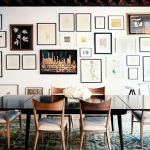 yemek odası duvarlarının resim ile dekoru