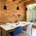 yemek odası tuğla duvarlar 2018