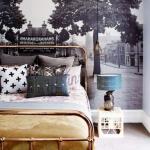 büyük resimli yatak odası duvar dekorasyonları 2018