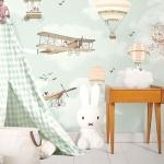 çocuk odası duvar çizimleri ile dekorasyon