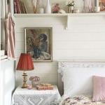 dantelli vintage yatak odası dekorasyonu