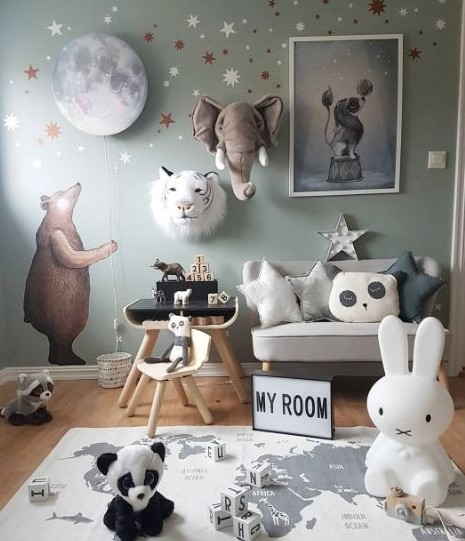 erkek çocuk odası duvar dekorasyon fikirleri 2018