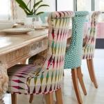 geometrik şekilli sandalye döşemeleri