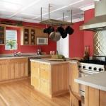kırmızı mutfak duvar rengi 2018
