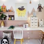 kız çocuk odası duvar dekorasyon fikirleri 2018