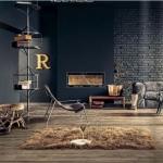 koyu renk oturma odası dekor örnekleri