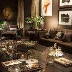 koyu renk oturma odası dekorasyonları 2019