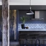 mutfak duvar renkleri 2018 2019 koyu mavi
