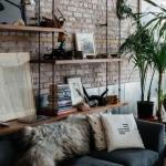salon duvar dekorasyon fikirleri 2018 19 tuğla