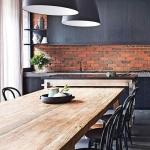 tuğla duvar mutfak dekorasyon fikirleri 2018
