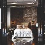 tuğla duvarlı yatak odaları 2018