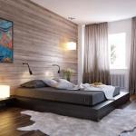 yatak odası kahverengi perde modeli 2018