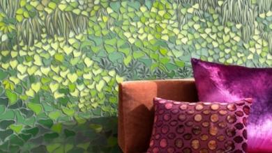 yeşil bitki desenli duvar mozaikleri 2018