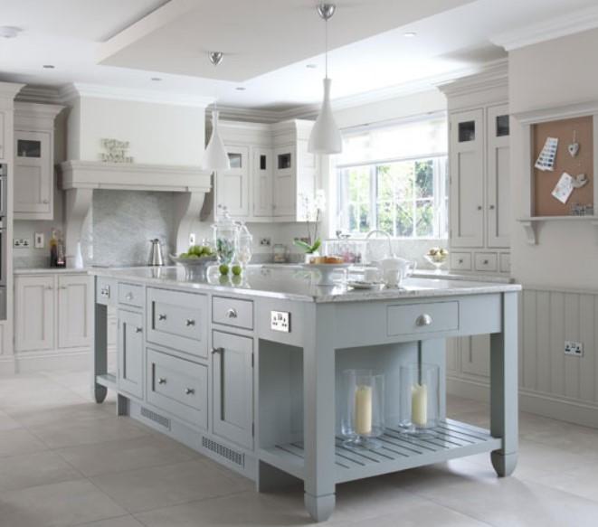 beyaza boyalı mutfak dolapları ve üniteleri