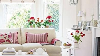 kırmızı beyaz oturma odaları 2018