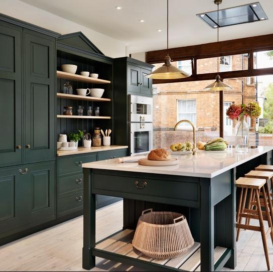 koyu renk boyalı mutfak dolabı modelleri